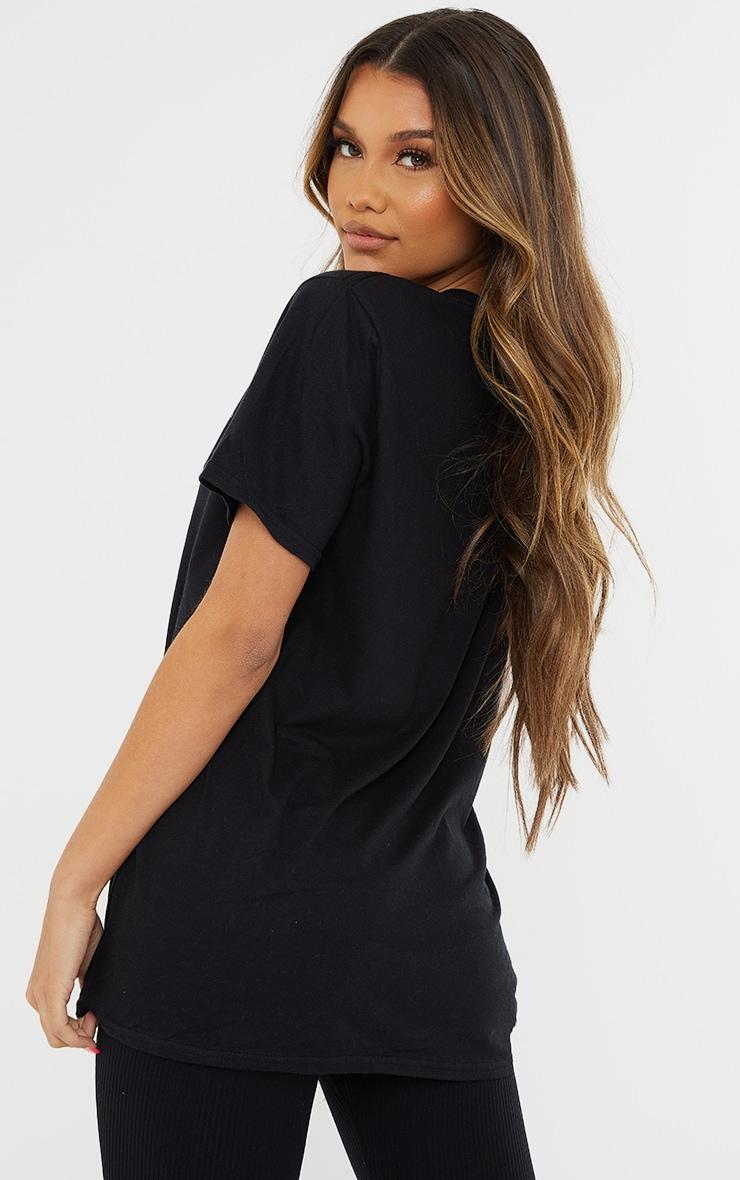PRETTYLITTLETHING Black Sport Oversized T Shirt 2