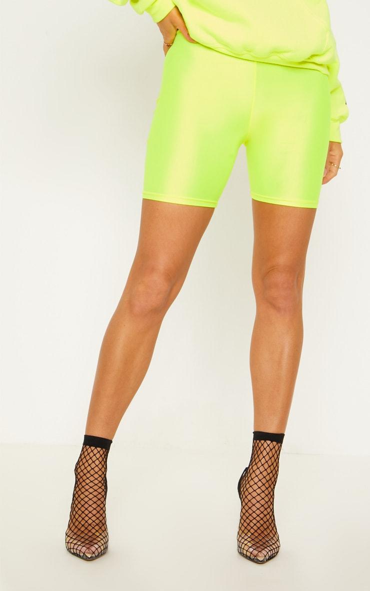 Short legging jaune fluo 3