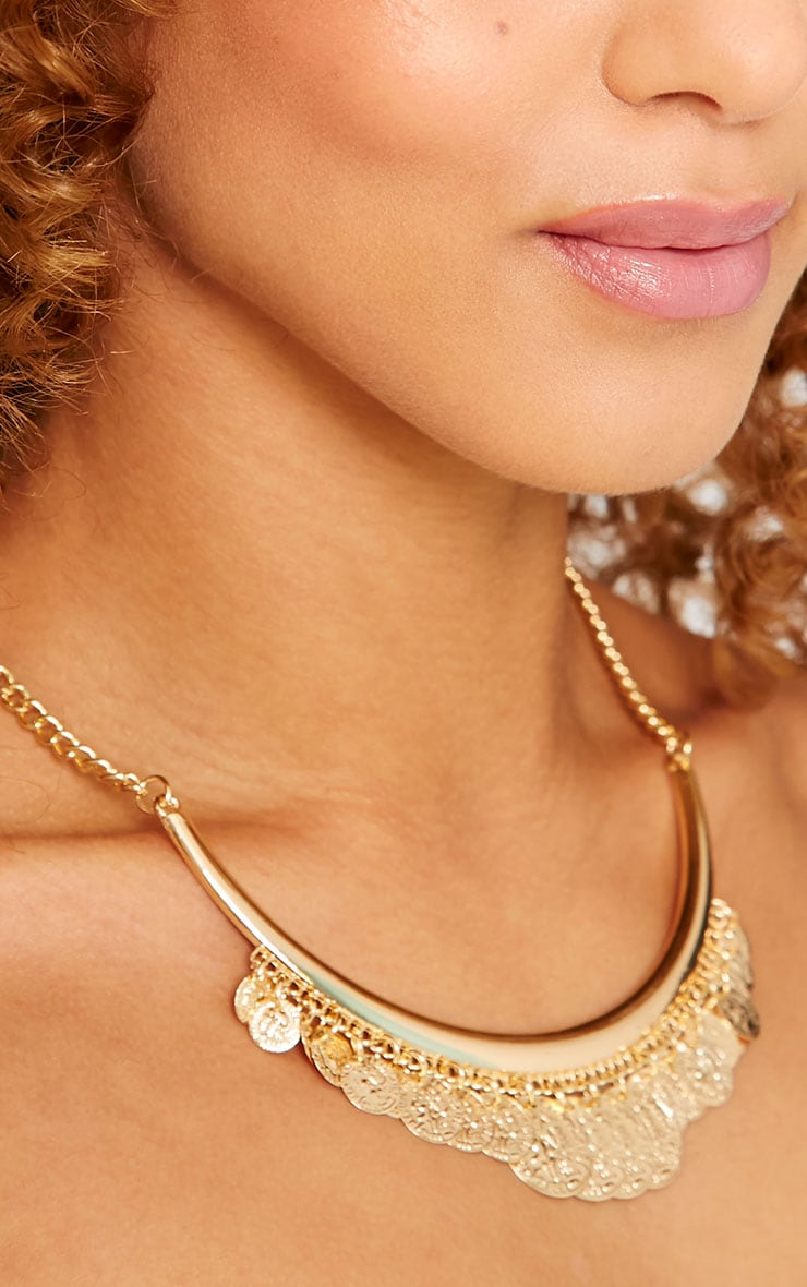 Laura Gold Coin Necklace 3
