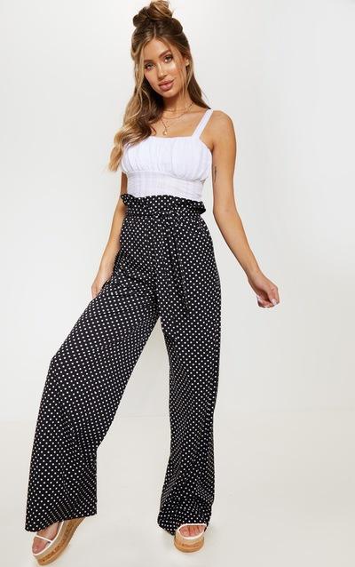 5ba5bff199f5 Polka Dot Trousers & Skirts | Polka Dot Bottoms | PrettyLittleThing