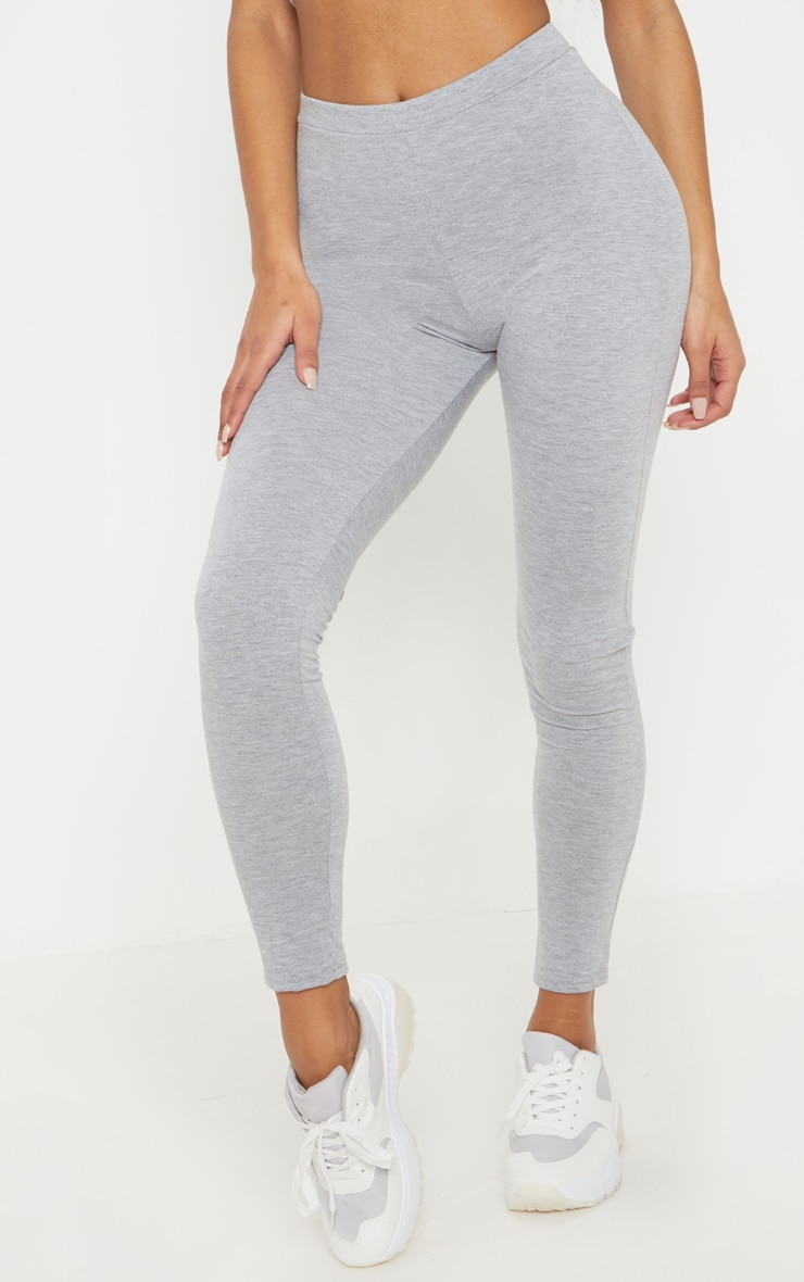 Grey Marl Ruched Back Jersey Legging 2