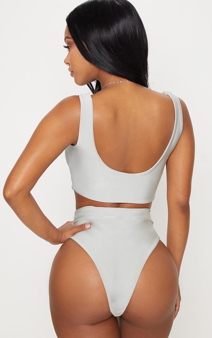 Shape Sage Green Bikini Top 2