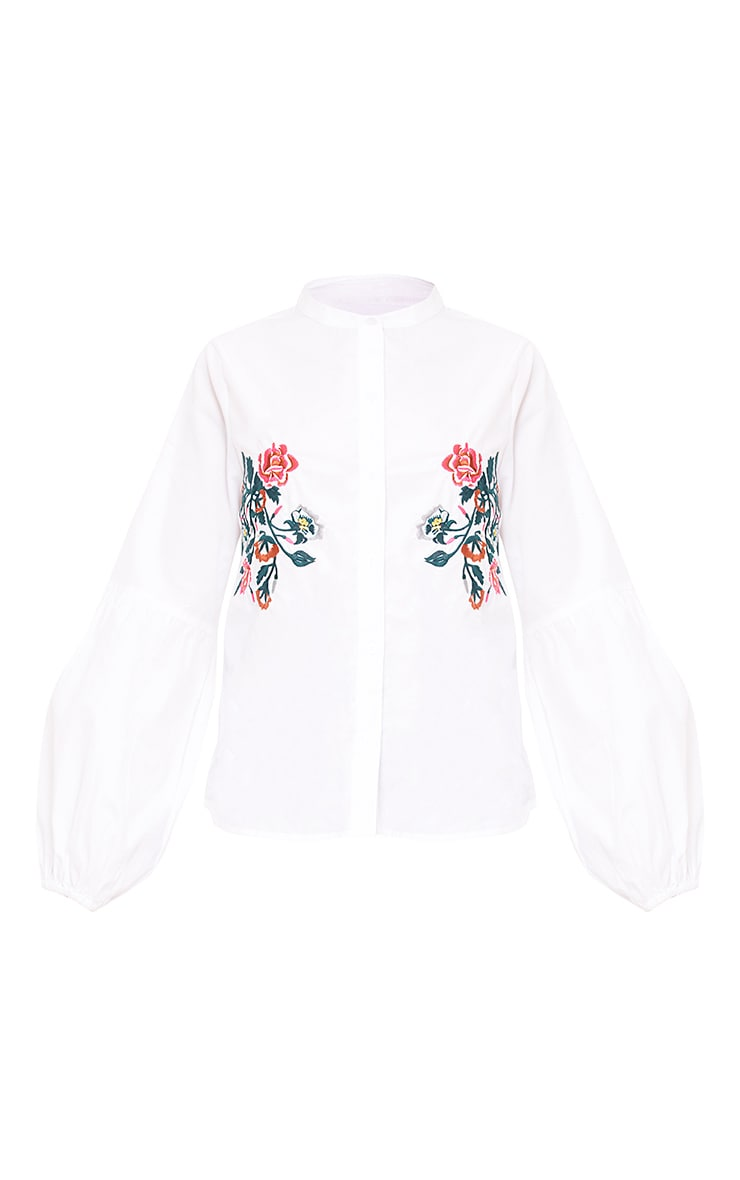 White Embroidered Shirt 3
