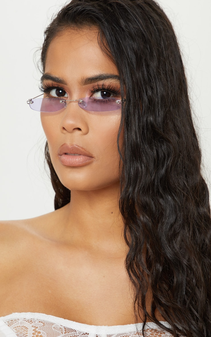 Purple Slim Line Reader Sunglasses 1