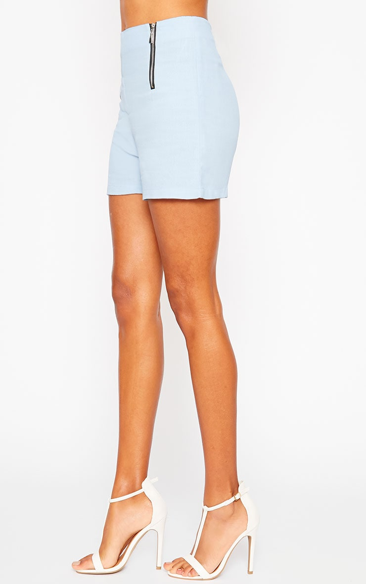 Mikkel Blue Zip Front Shorts 5
