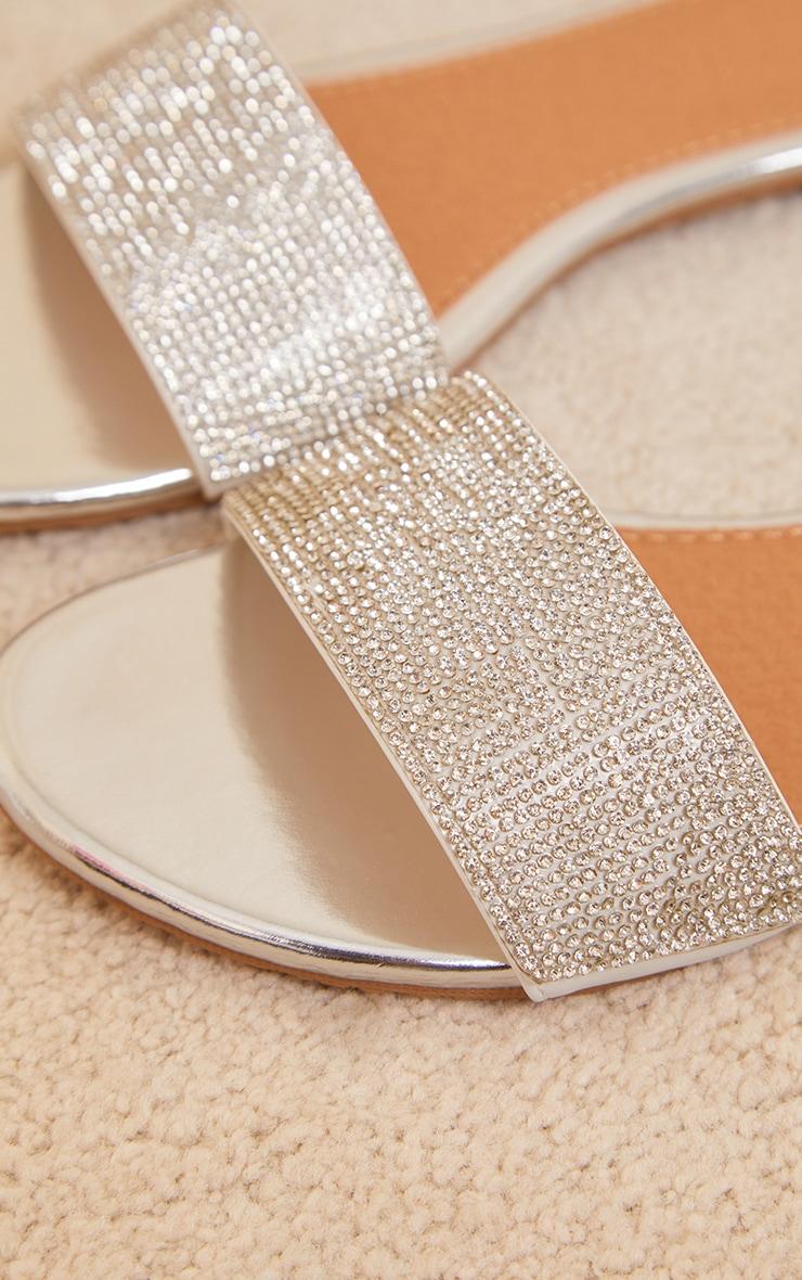 Silver Wide Fit Strap Slides 3