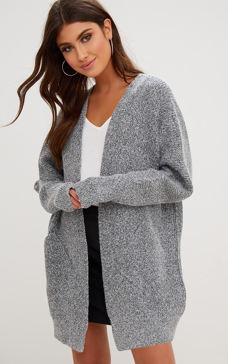 Grey Oversized Cardigan 1