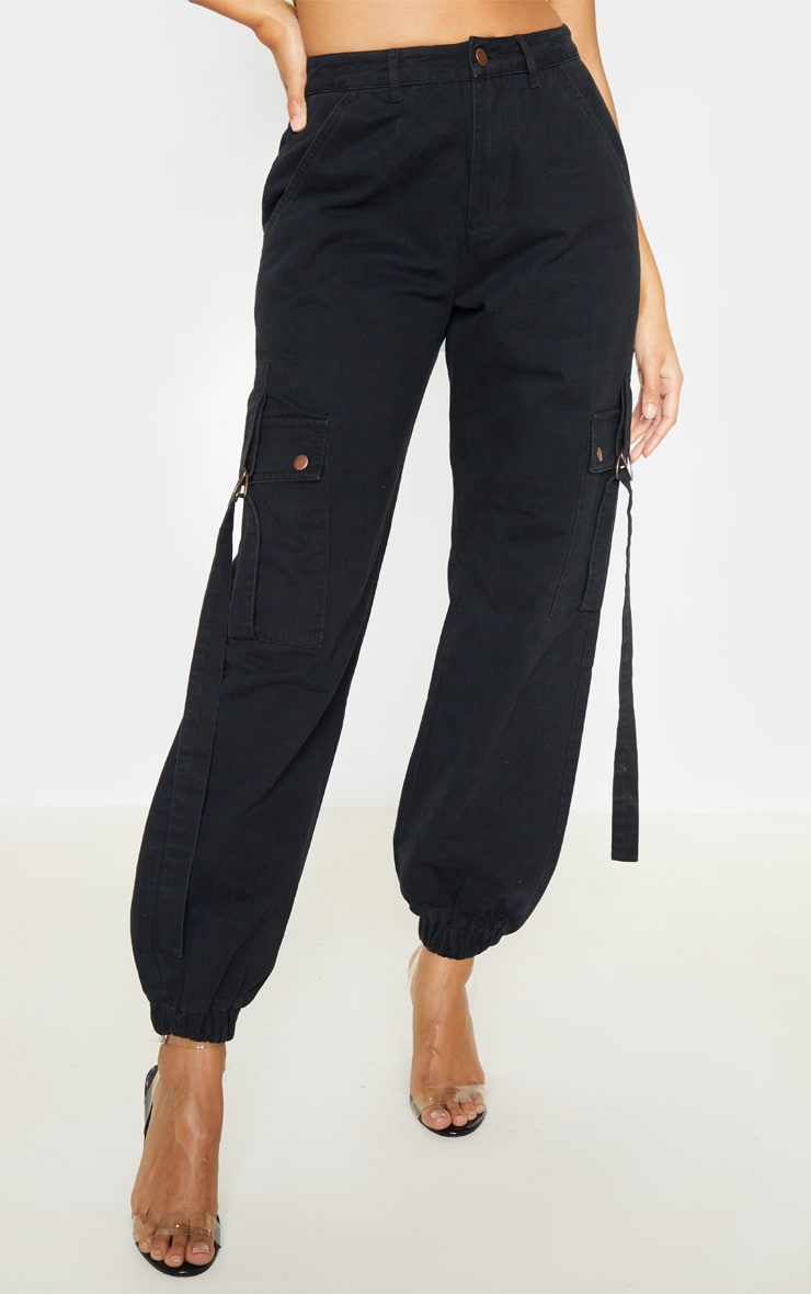 Black Cargo Pocket Utility Jean 2