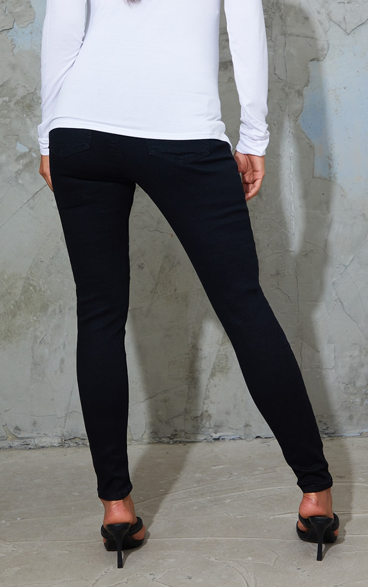 Maternity True Black Pull On Skinny Jeans 3