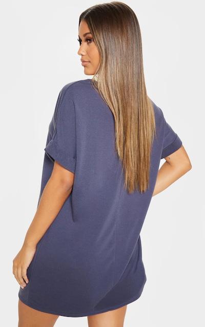 Charcoal Short Roll Sleeve Sweat Jumper Dress
