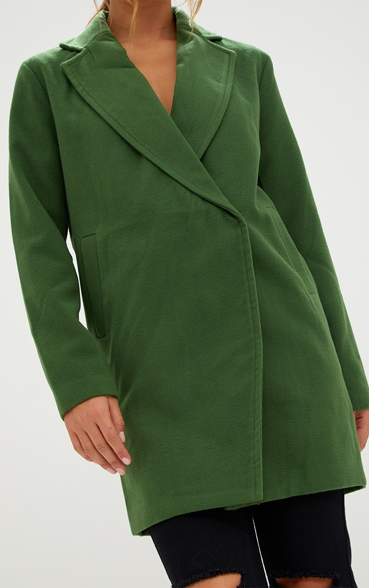 Green Double Breasted Coat 4