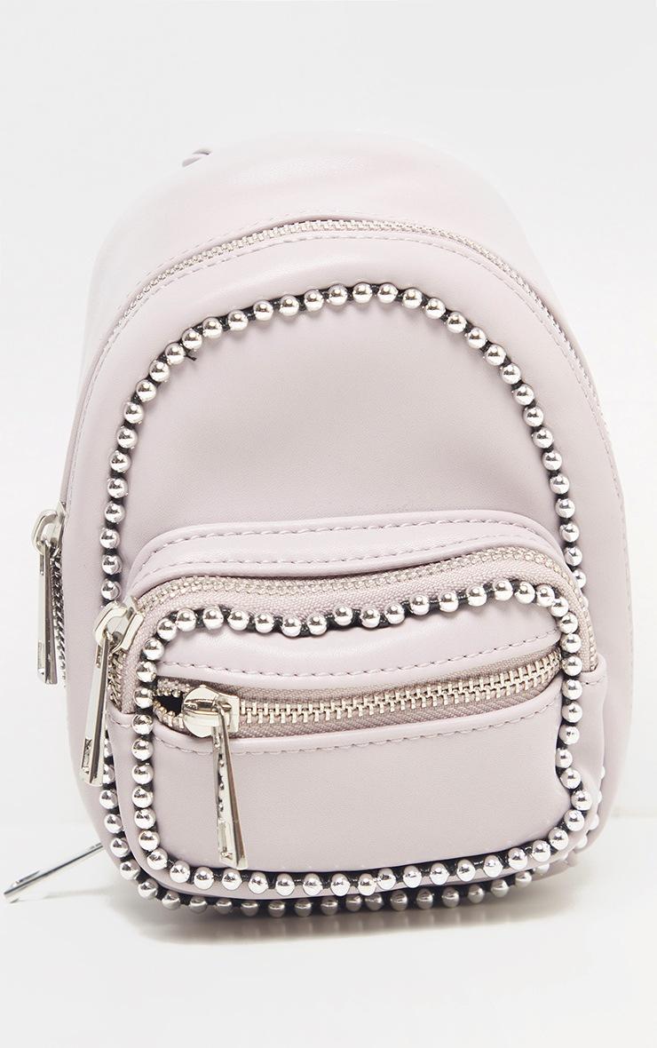 Dusty Lilac Ball Chain Border Mini Rucksack 2
