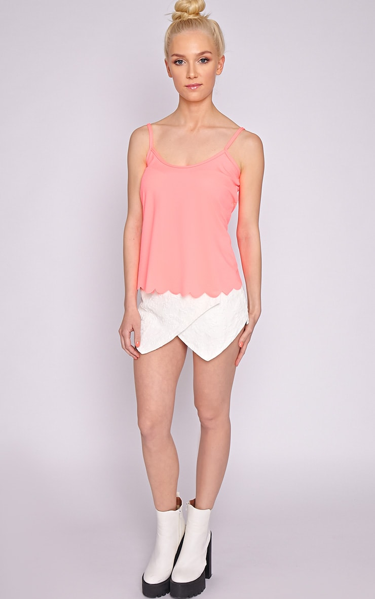 Kailey Neon Pink Scallop Vest 3