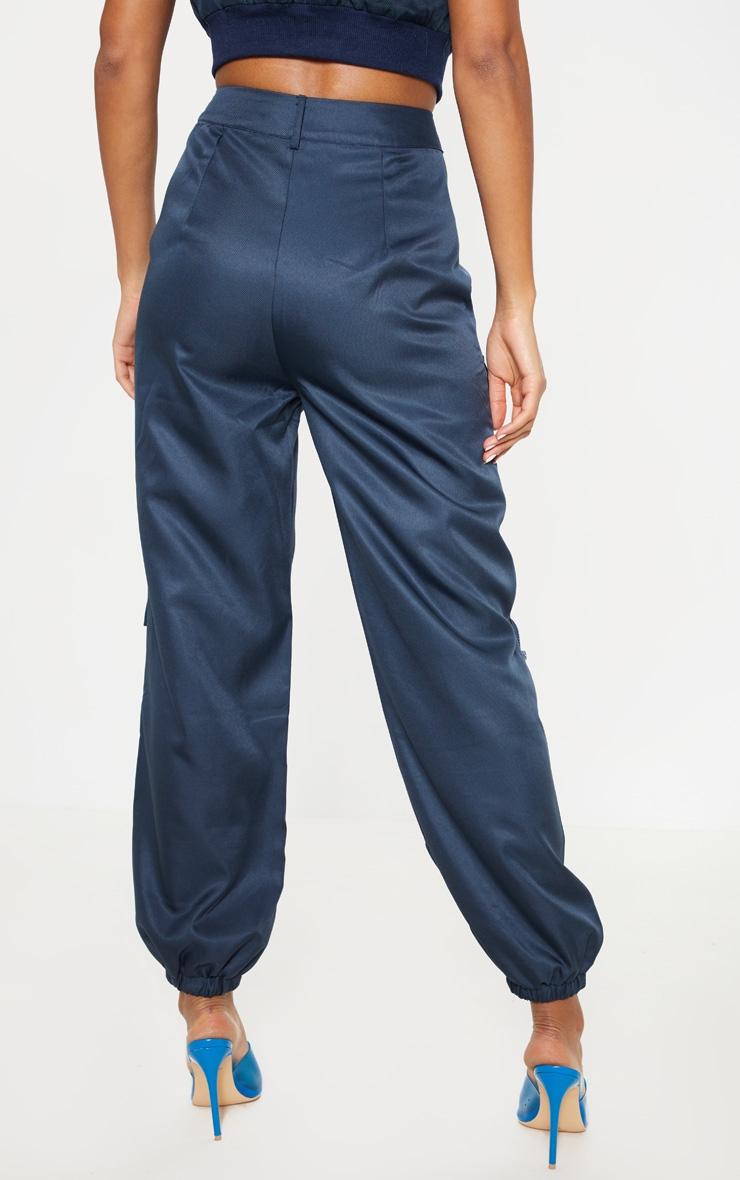 Navy 3D Pocket Cargo Trouser 4