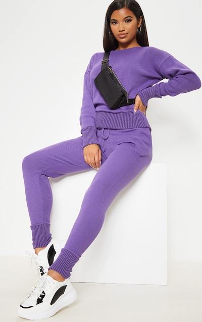 Violet Jogger Knitted Lounge Set