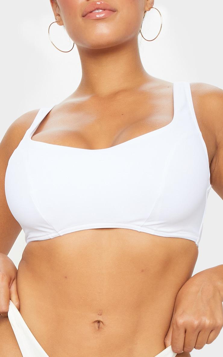 White Fuller Bust Scoop Neck Bikini Top 4
