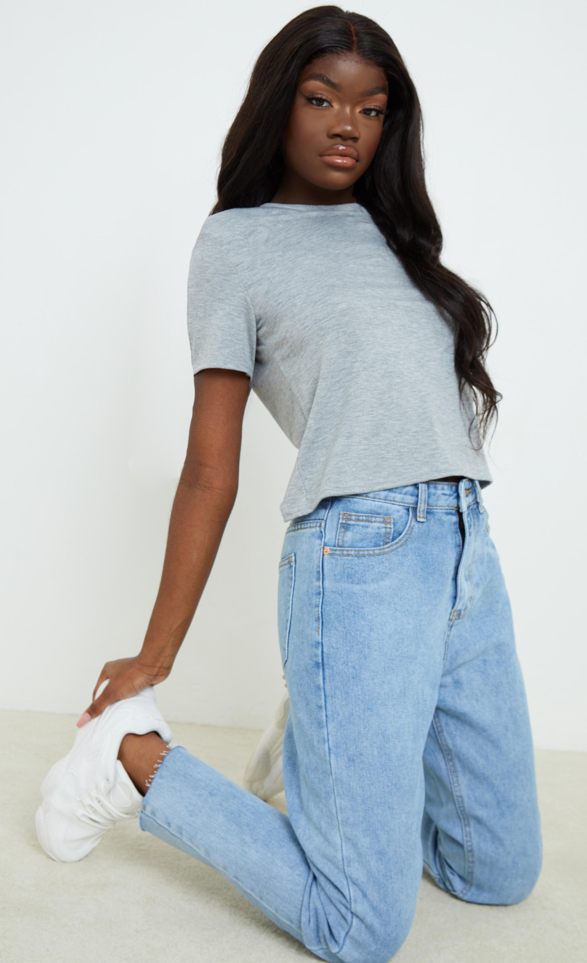 Grey Shoulder Pad T Shirt 3