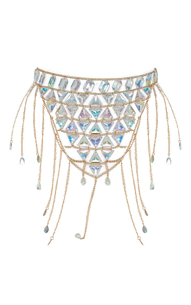 Iridescent Beaded Waist Belt Body Jewellery 2