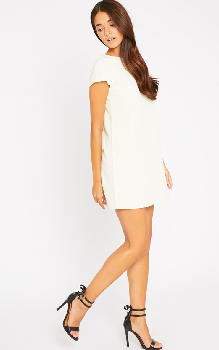 Sabra Cream Waffle Loose Fit Shift Dress 3