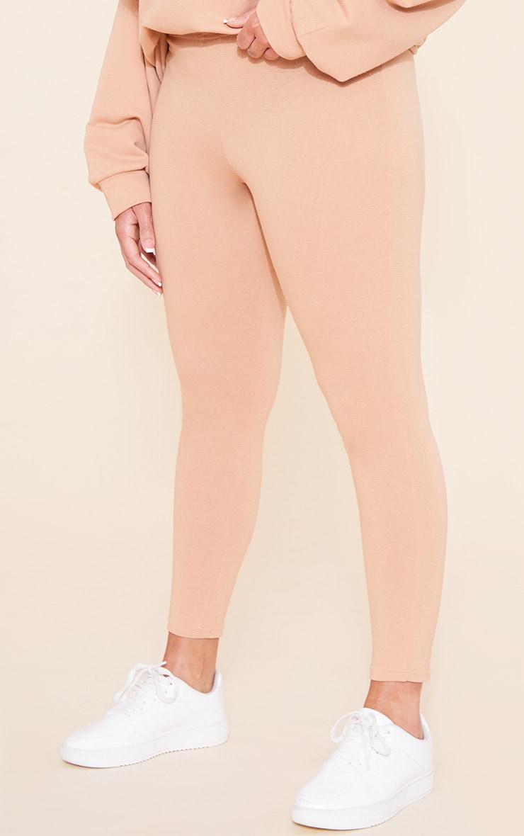 RECYCLED Plus Pale Tan Leggings 5