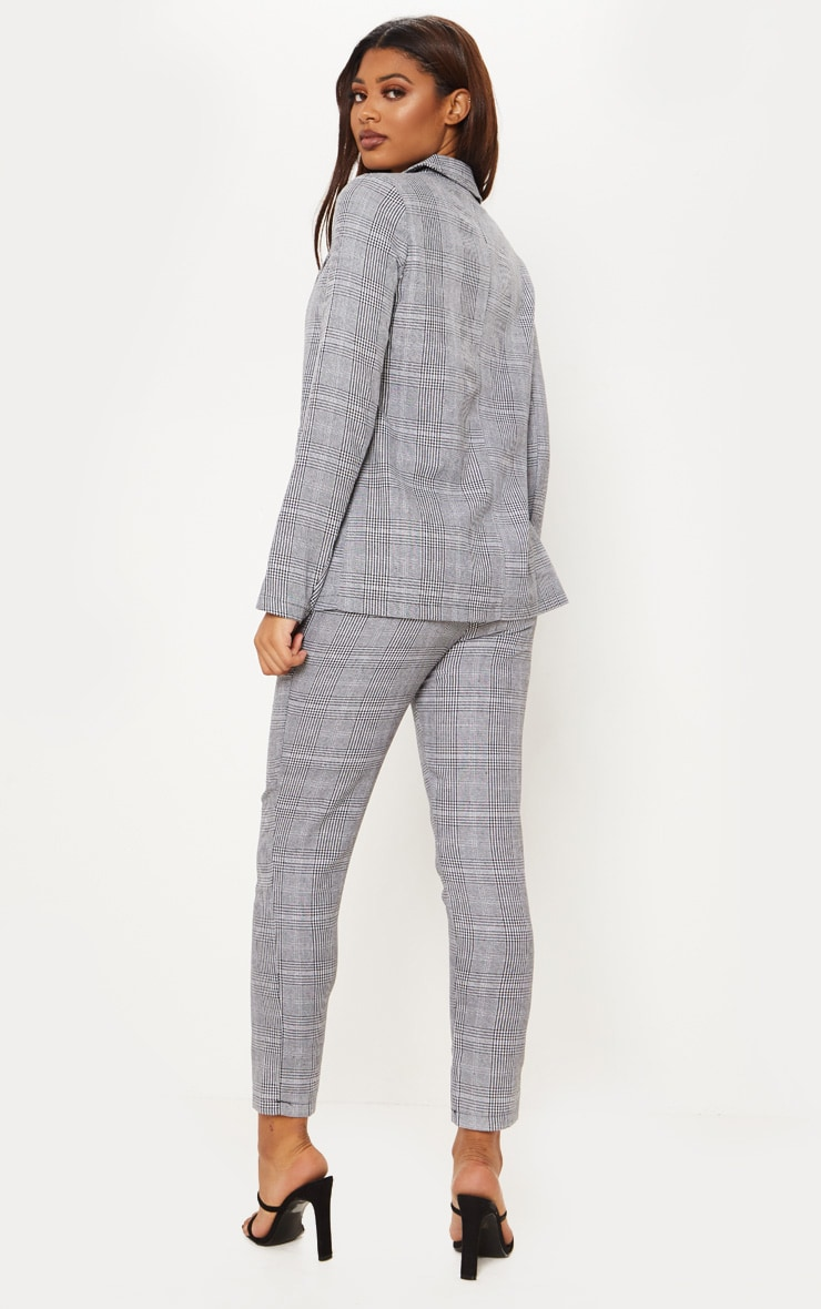 Tall Grey Checked Blazer  2