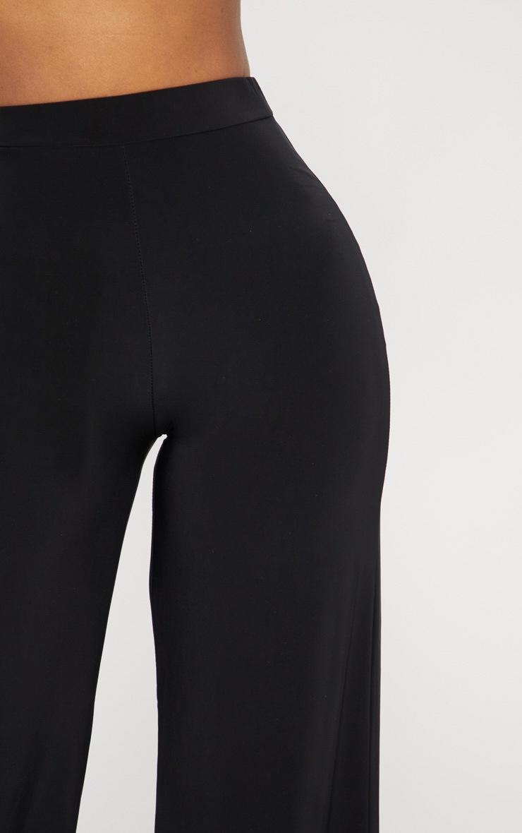 Shape Black Slinky High Waisted Wide Leg Pants 5