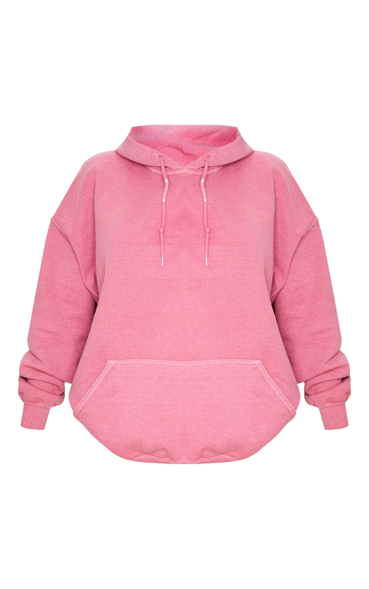 Pink Washed Oversized Hoodie 5