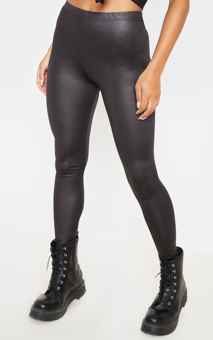 Savannah Black PU Leggings 2