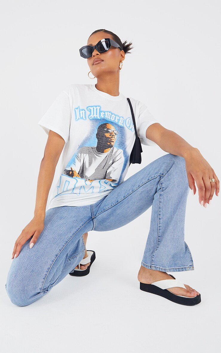 White Loving Memory Of DMX Print T Shirt 3