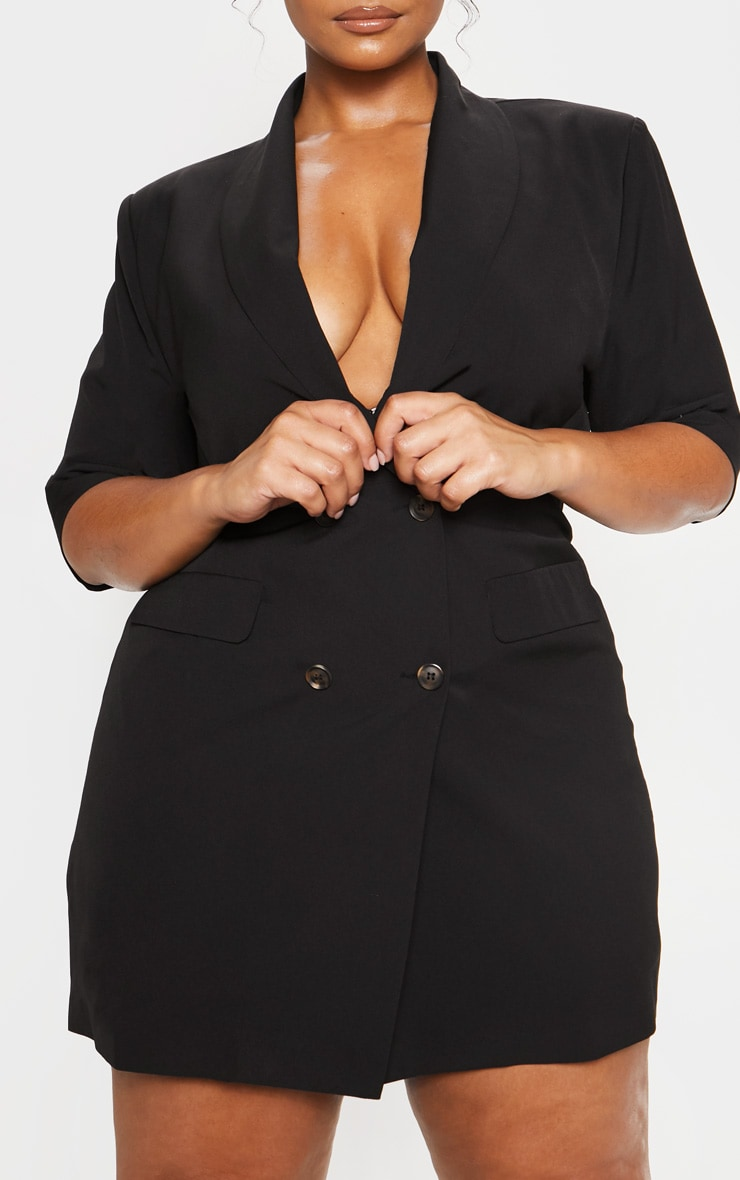 Black 3/4 Sleeve Blazer Dress 6