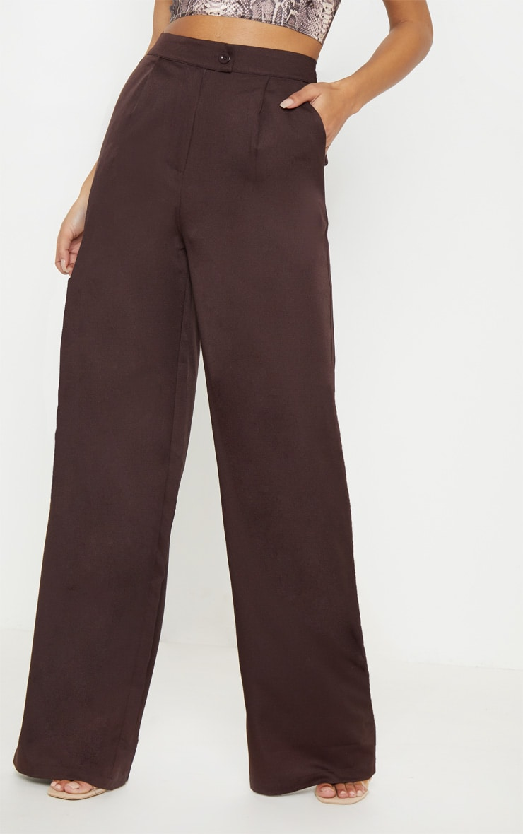 Chocolate Formal Button Wide Leg Pants 2