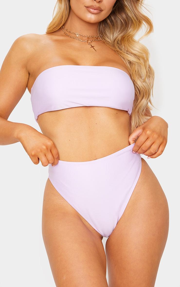 Lilac Mix & Match High Waisted High Leg Bikini Bottoms 1