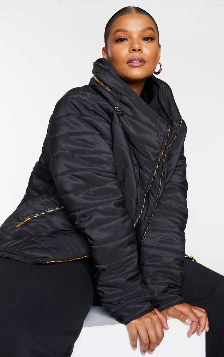Plus Mara Black Puffer Jacket 4