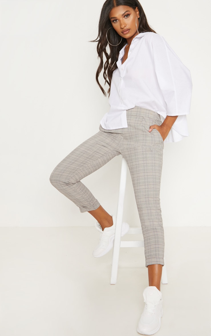 Grey Check Trouser