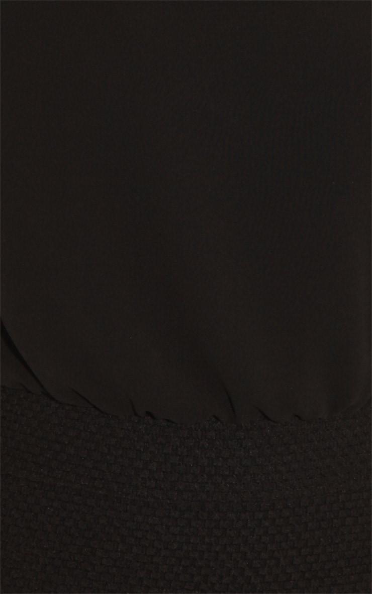 Aaliyah Black Chiffon Top Dress With Black Collar Detail 5