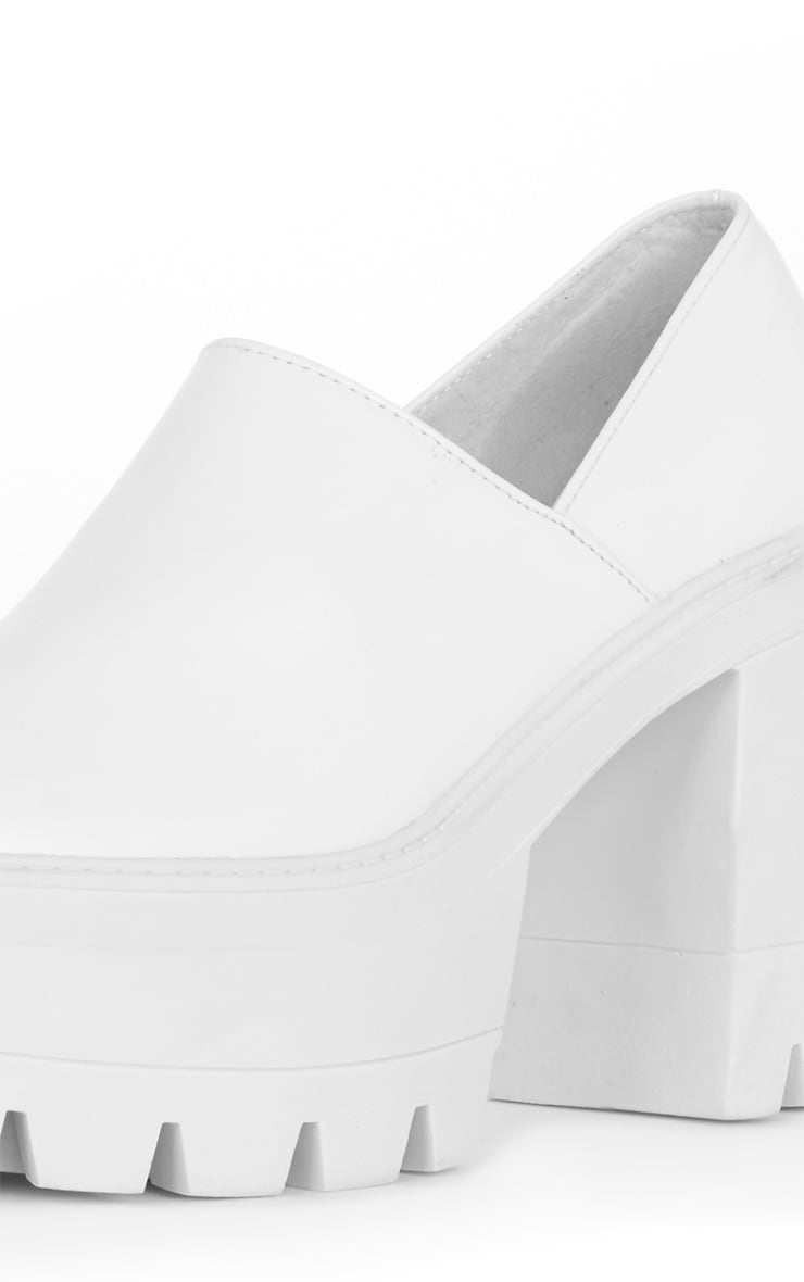 Blair White Slip on Chunky Shoe 4