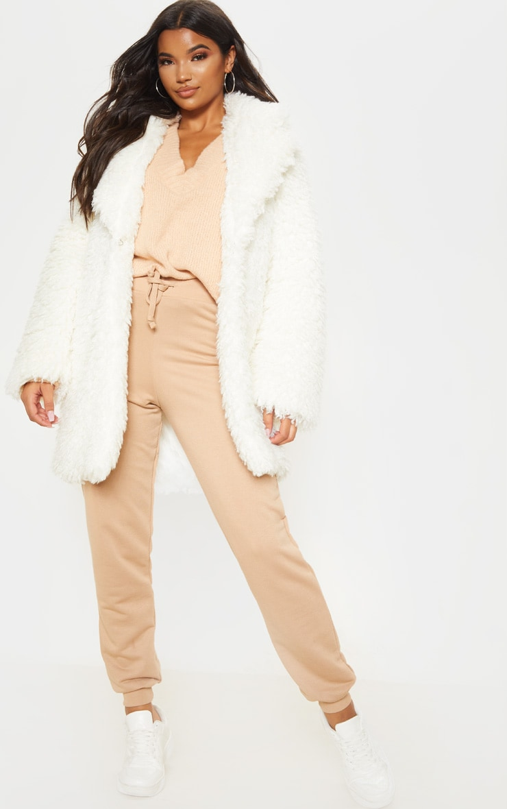 White Teddy Faux Fur Coat 4
