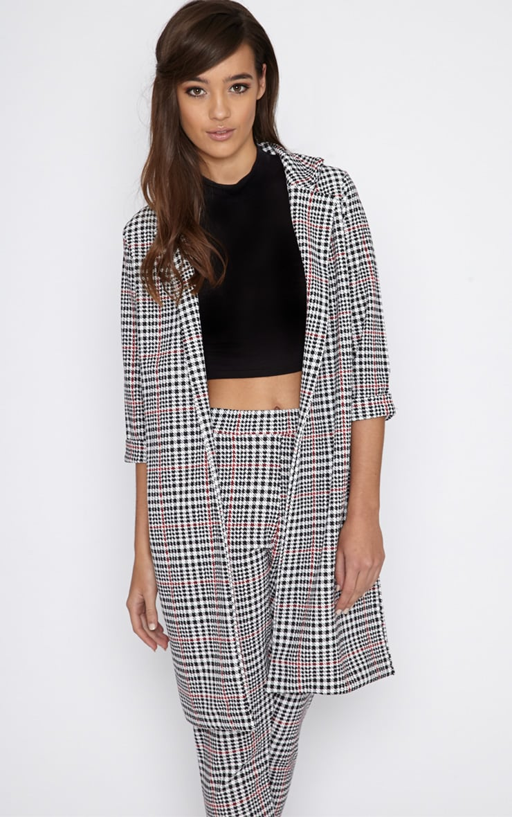 Devon Dogtooth Duster Jacket 4