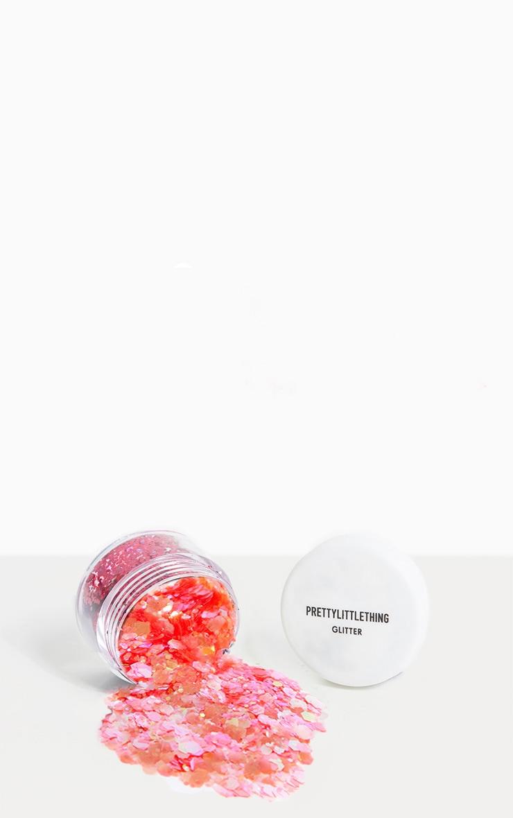 PLT Chunky Neon Pink Glitter Pot