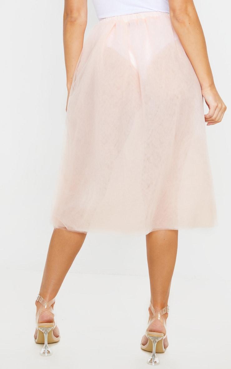Nude Tulle Skirt 4