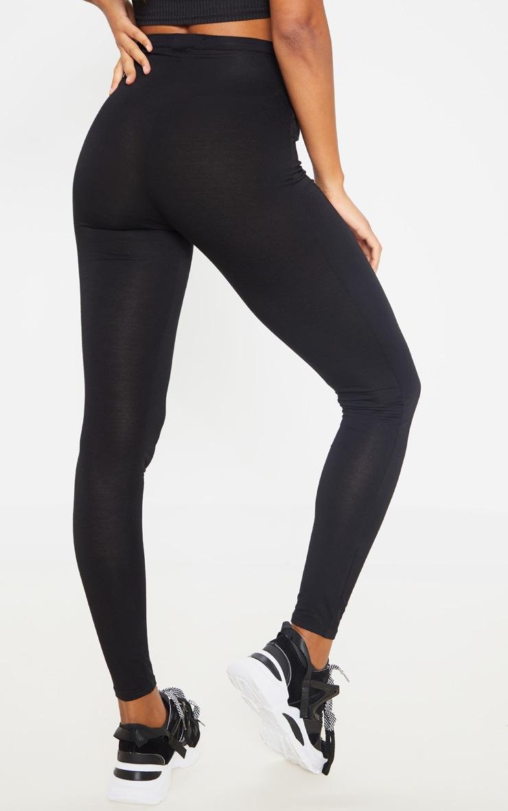 Legging noir en jersey à taille nouable 4