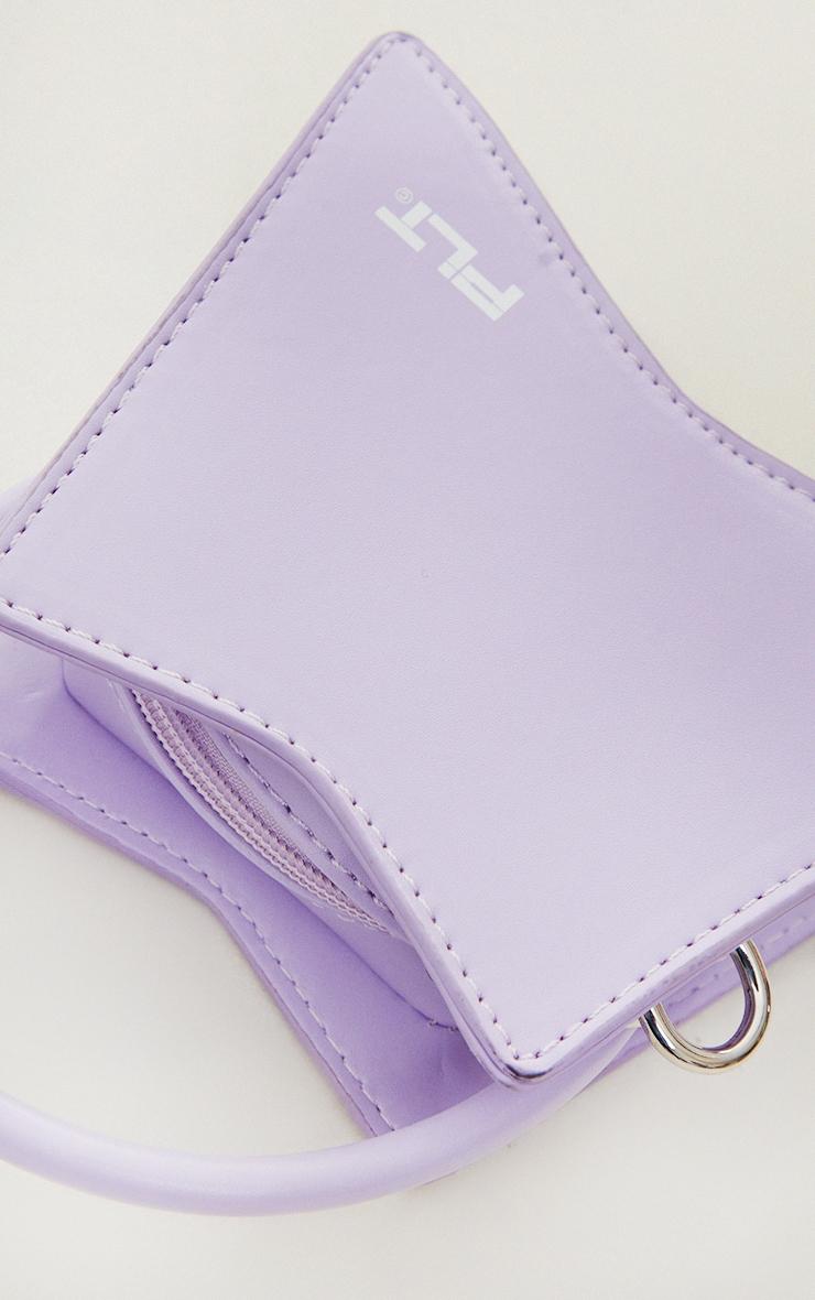 PRETTYLITTLETHING Lilac Triangular Mini Bag 3