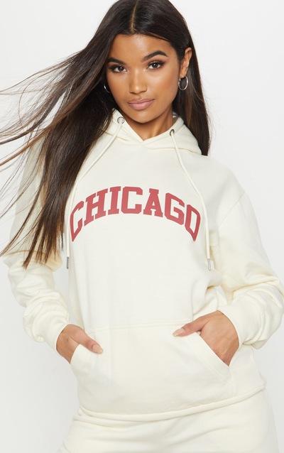 Cream Chicago Hoodie b600d39e1