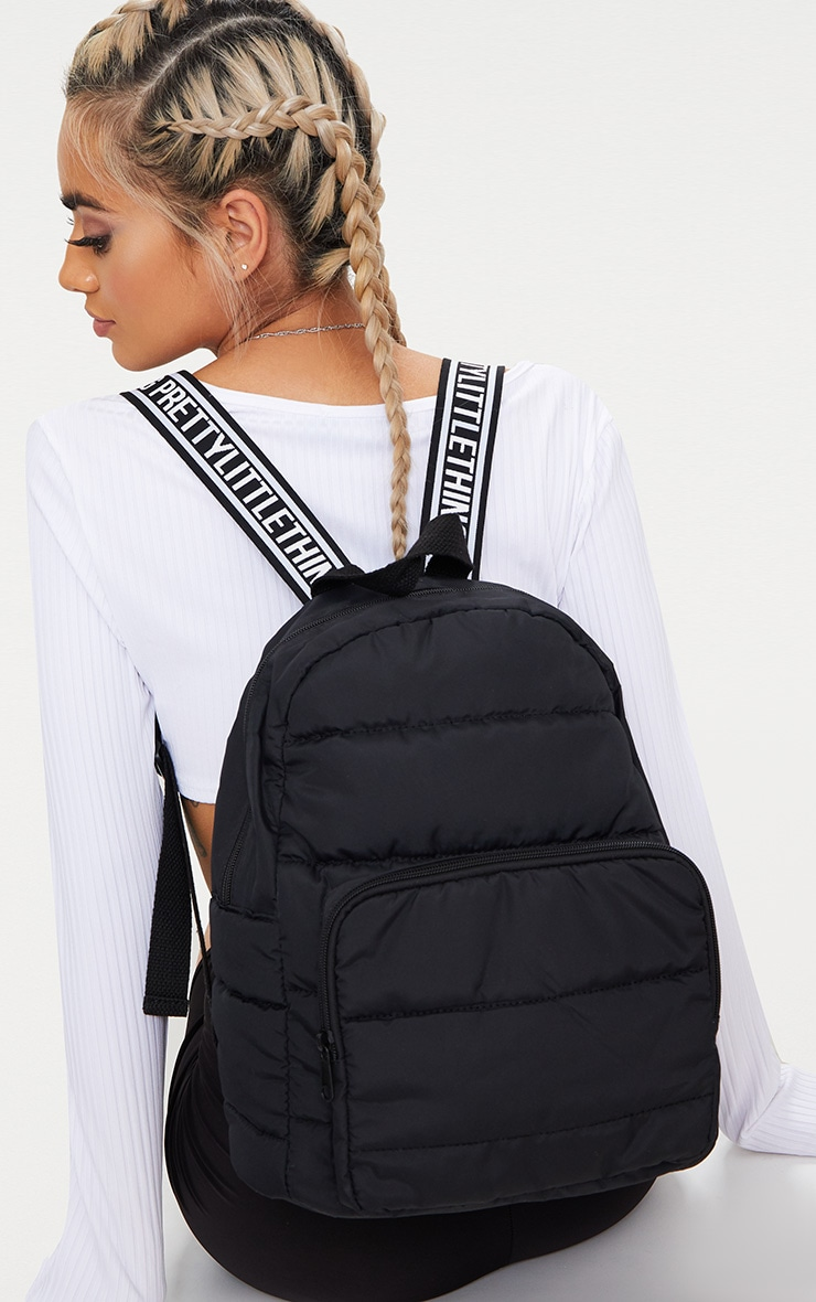 PRETTYLITTLETHING Black Backpack 1