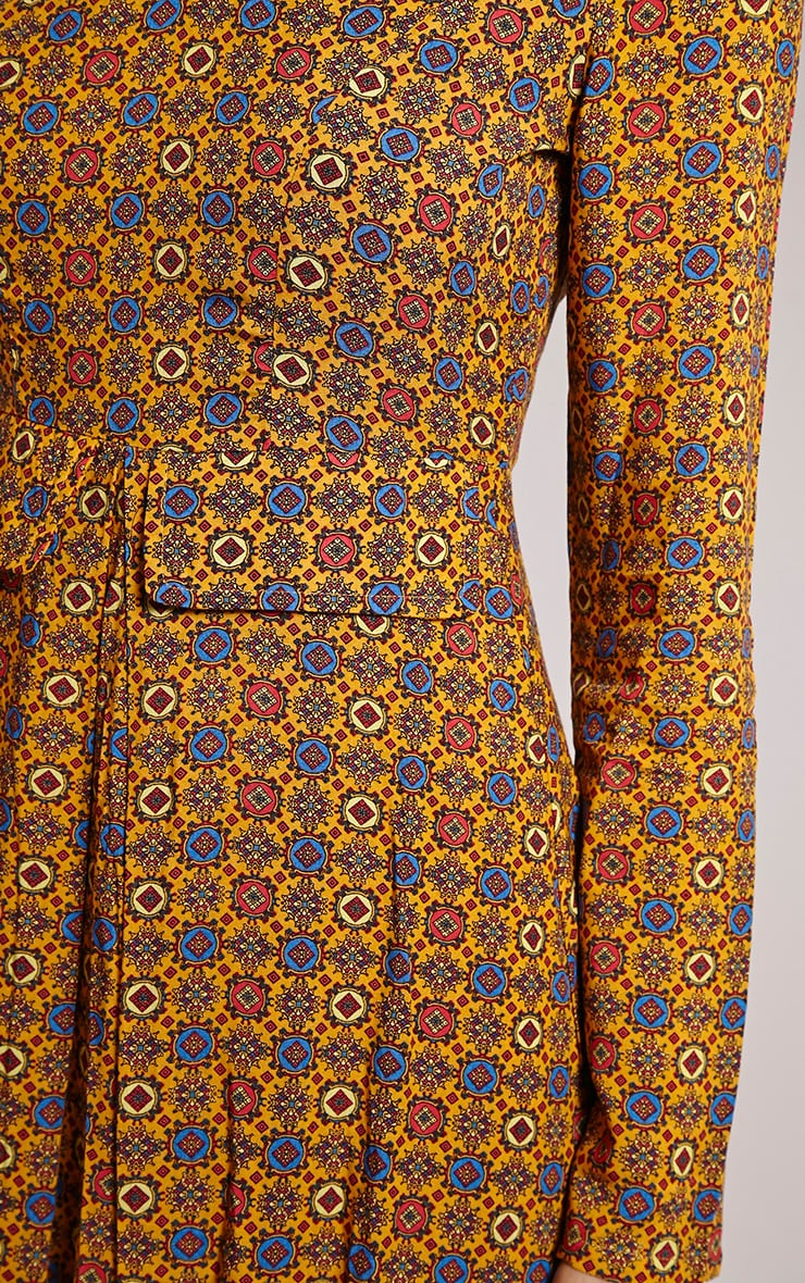 Rylah Orange Tile Print Dress 5