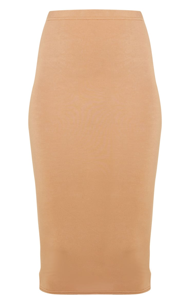Basic Camel Midi Skirt 5