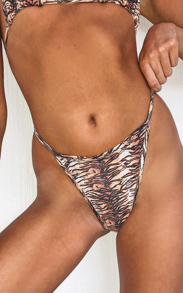 Bas de maillot de bain mini imprimé tigrures marron Mix & Match 5