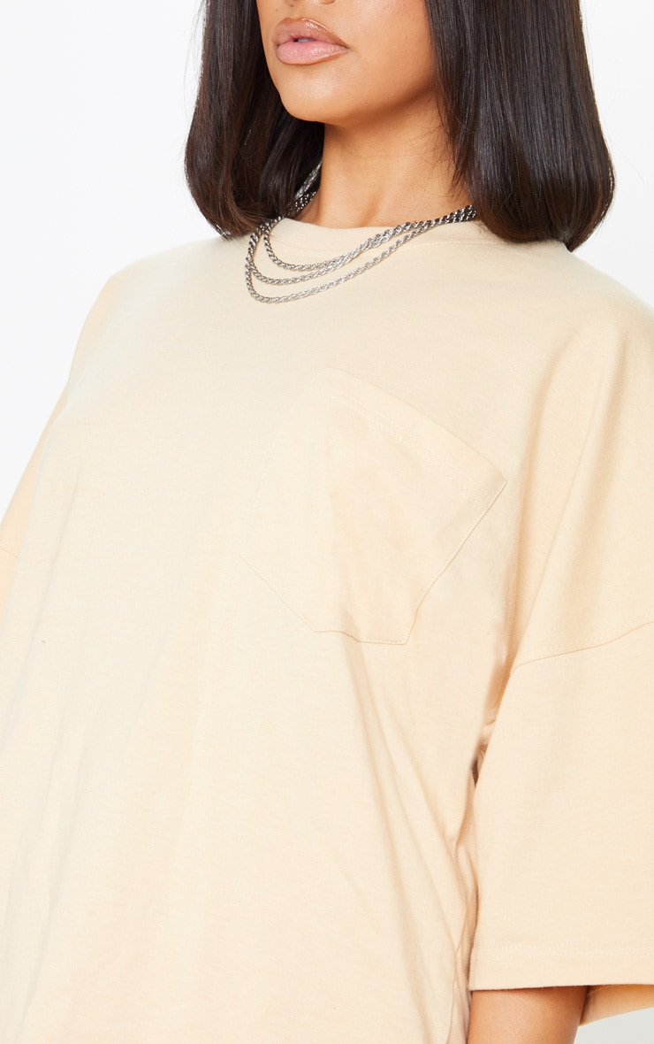 Sand Pocket Front Oversized T Shirt 5