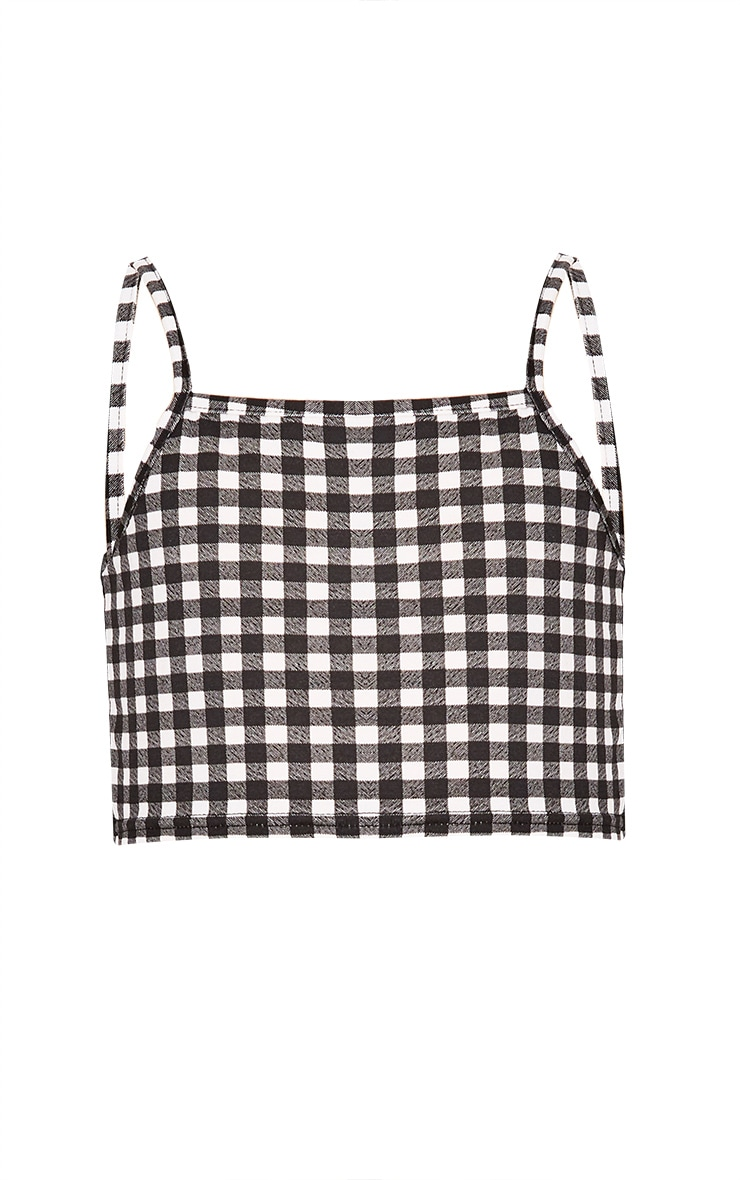 Gingham Black Crop Top  2