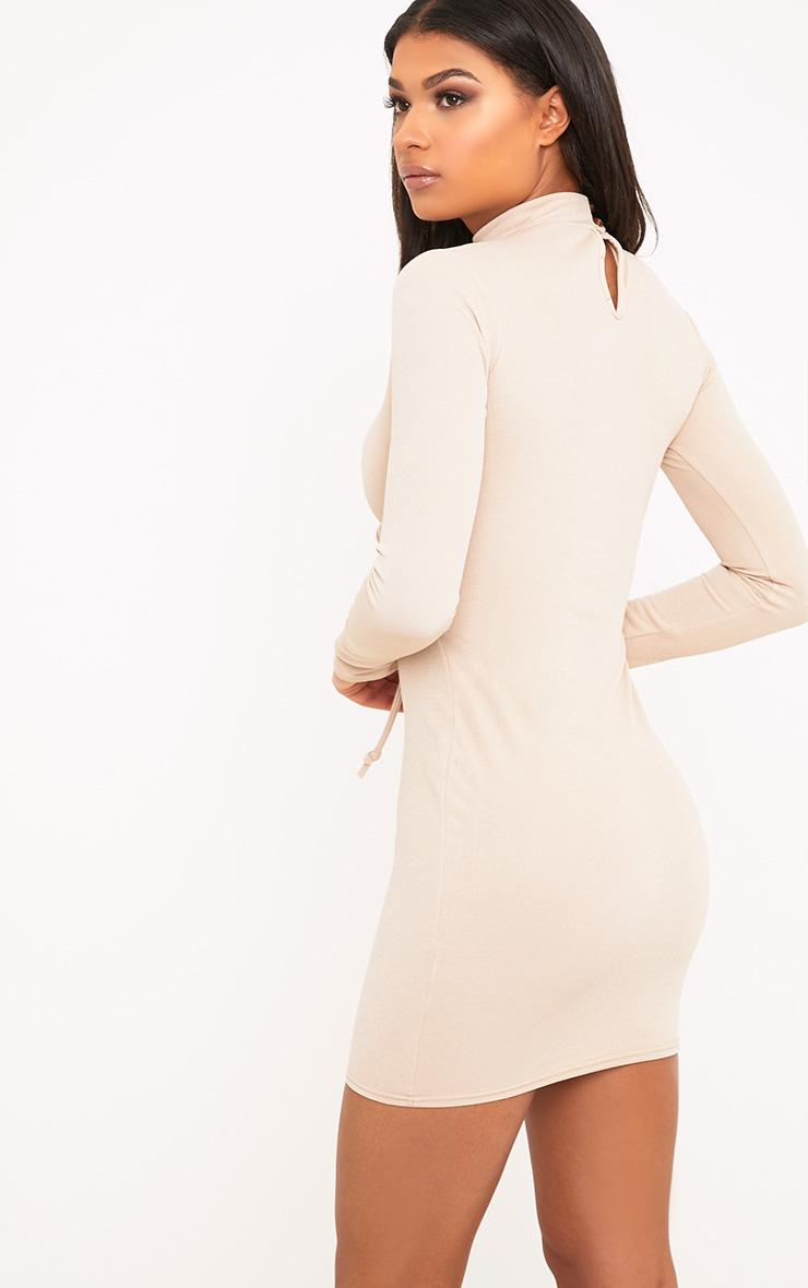Martha Nude Corset Detail Bodycon Dress 2